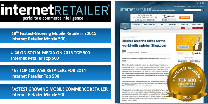 market america rank top 59 internet retailer