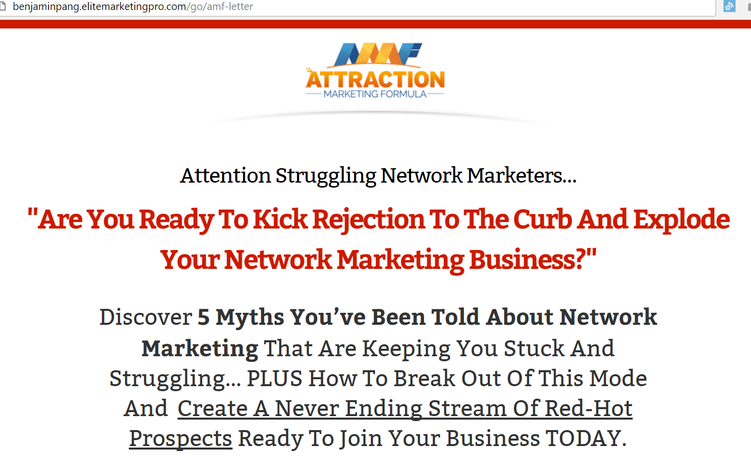 attraction marketing formula sales letter
