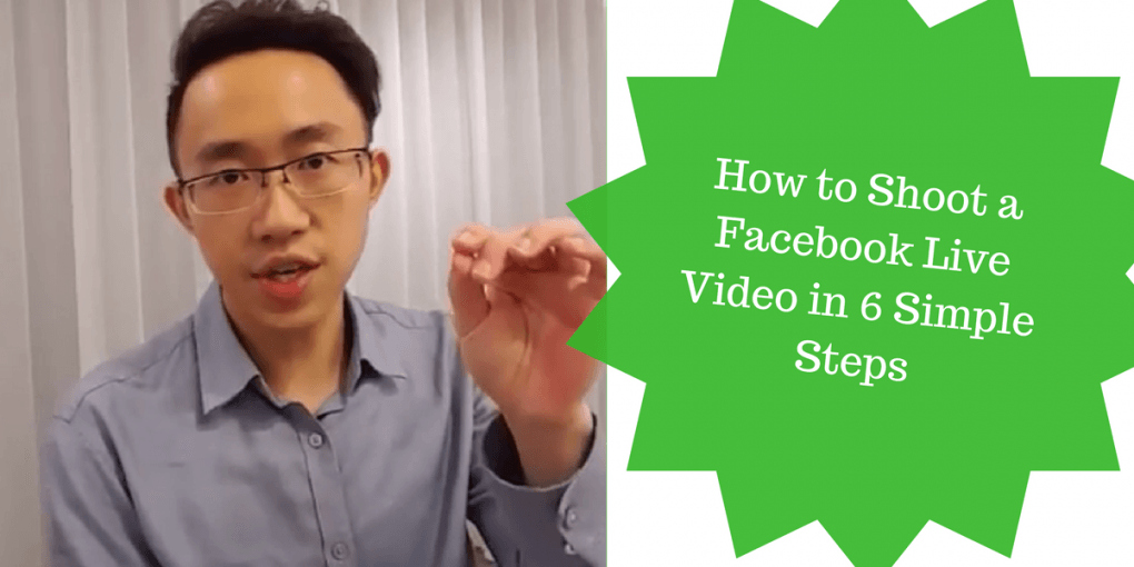 banner for how to shoot a facebook live video in 5 simple steps