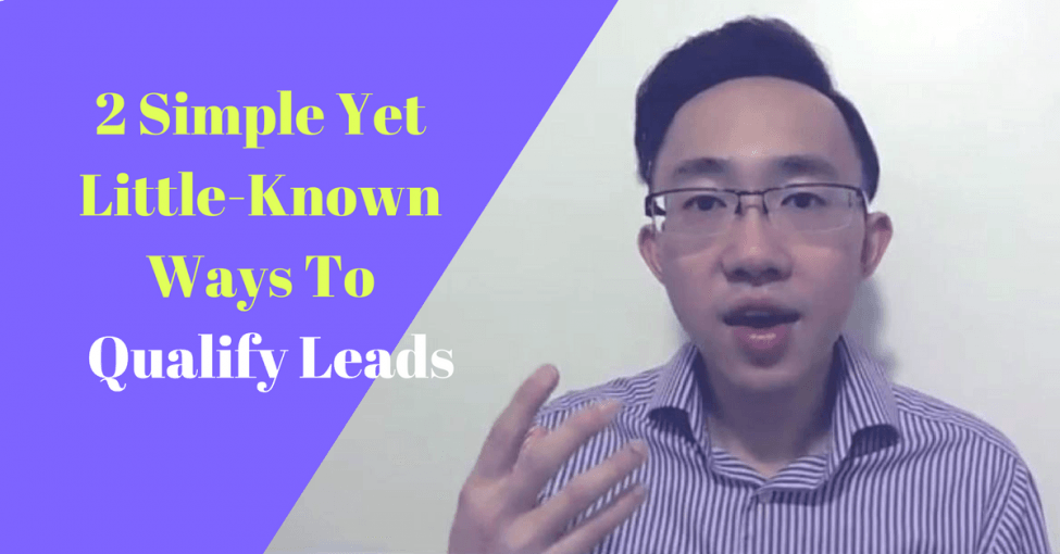 two ways to qualify leads